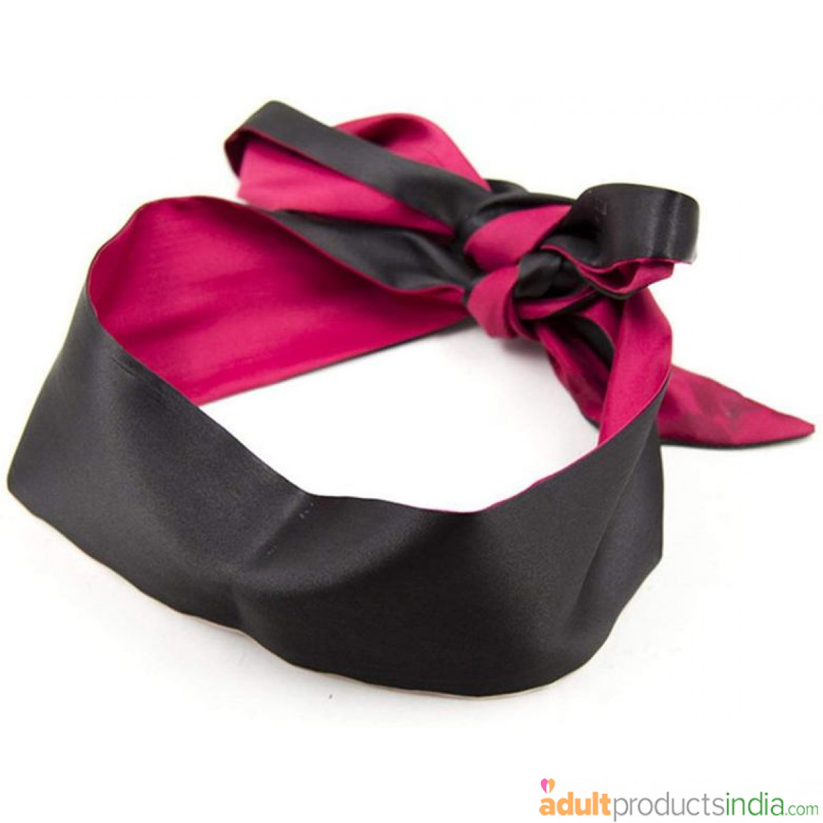 Silk Blind Fold - Black And Red