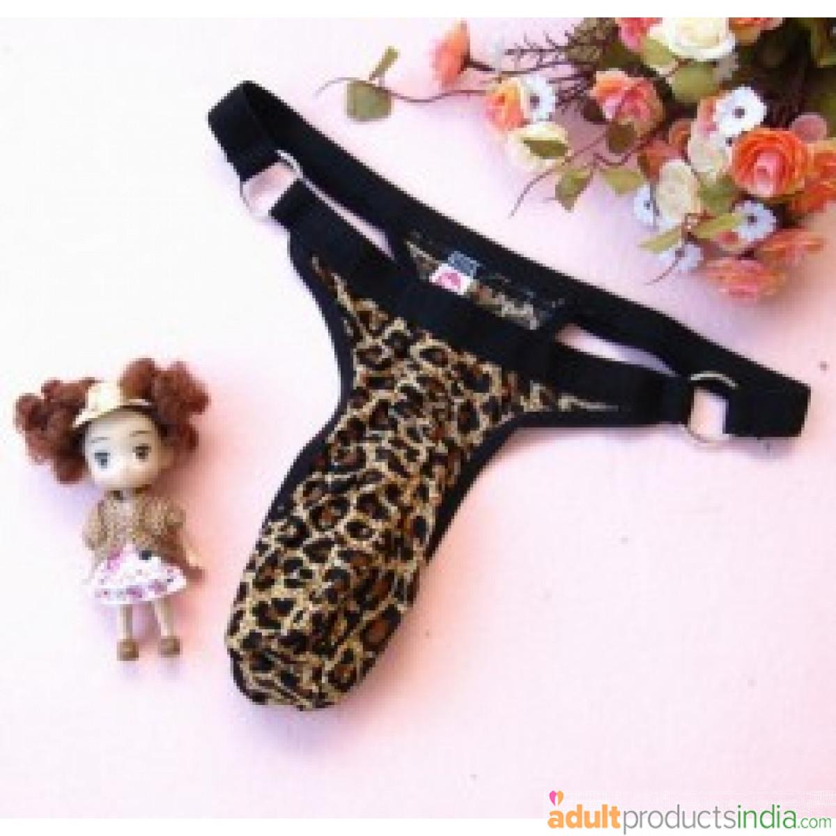 Men Leopard G-String