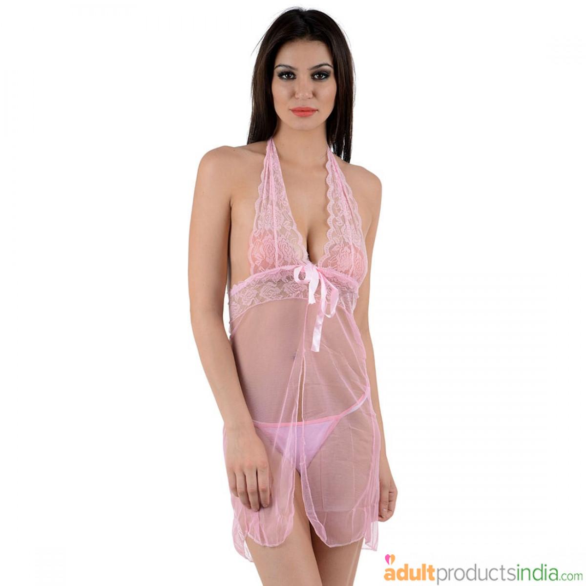 Posh Lace Babydoll Pink