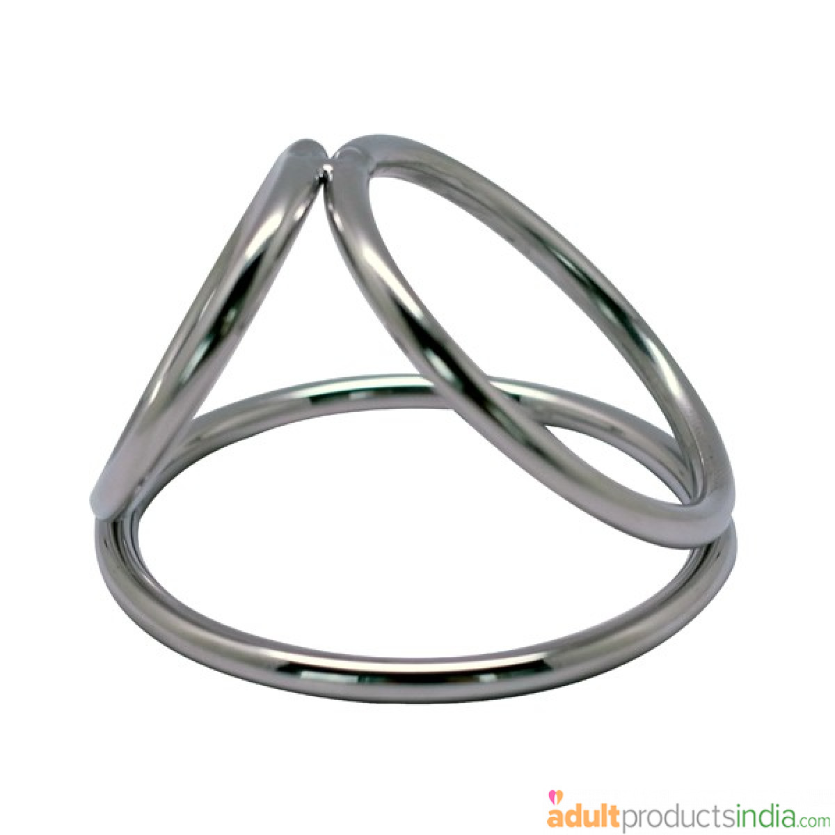 Triple Steel Cock Ring - Large Size