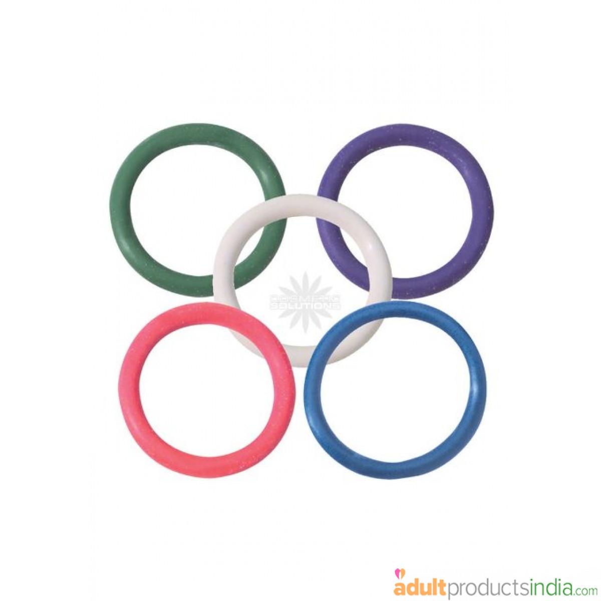 SPARTACUS - Rainbow Rubber C Ring 5 Pack