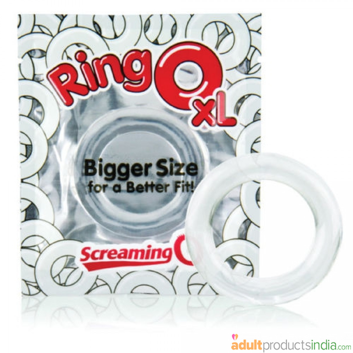 RING O SILICONE XL COCK RING CLEAR SCREAMING O