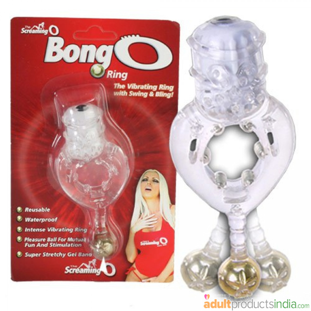 Screaming O - Vibrating Ring with Swing & Bling