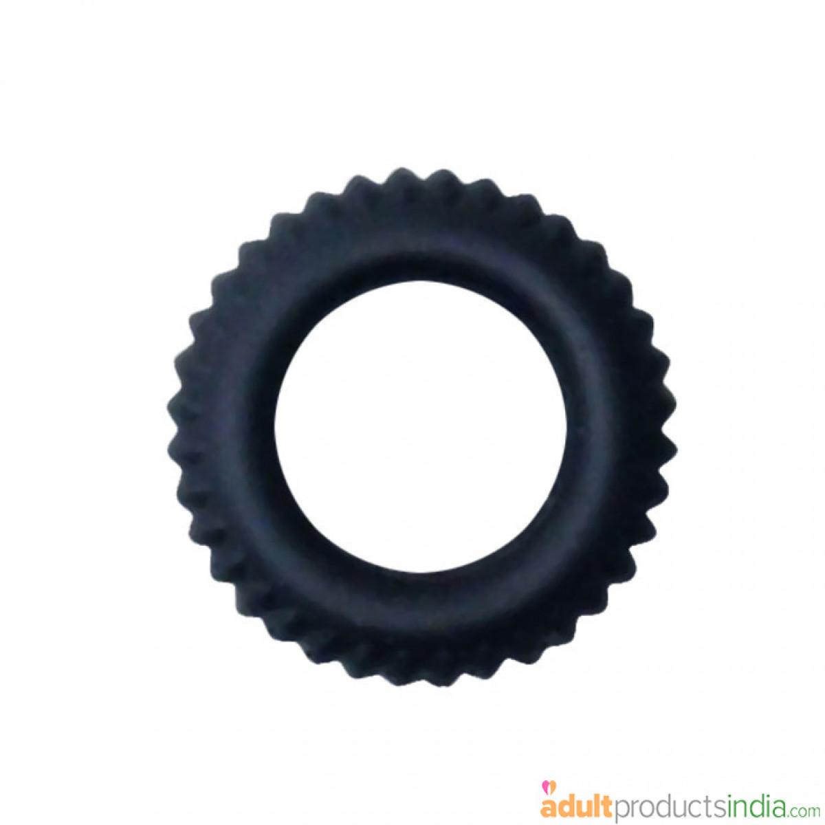 Single Silicone Black Cock Ring