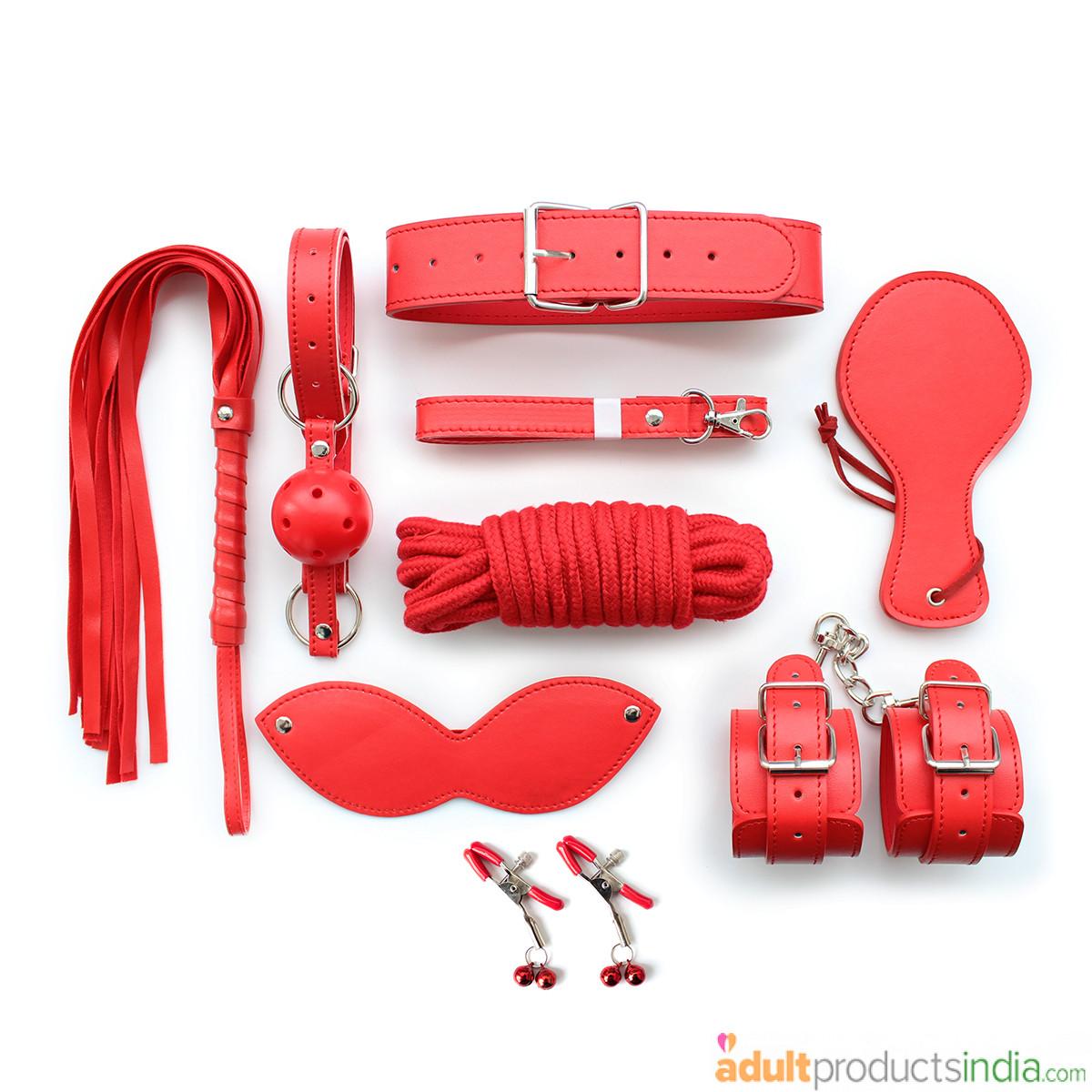 Bondage Set 8 Pcs in Red Color