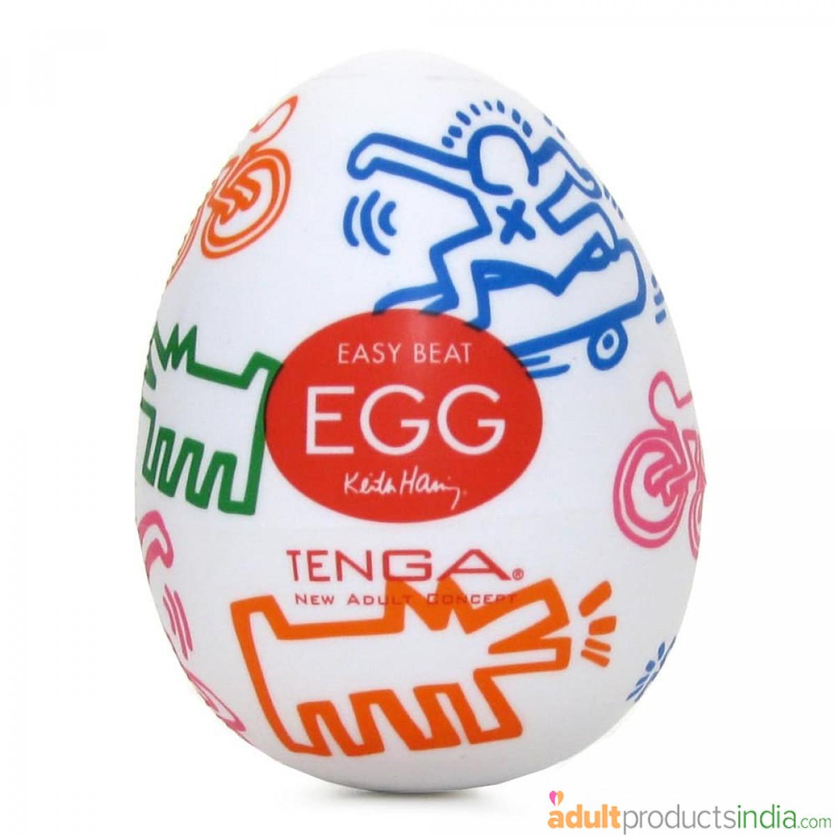 Tenga Keith Haring Egg Masturbator Feel the Rush
