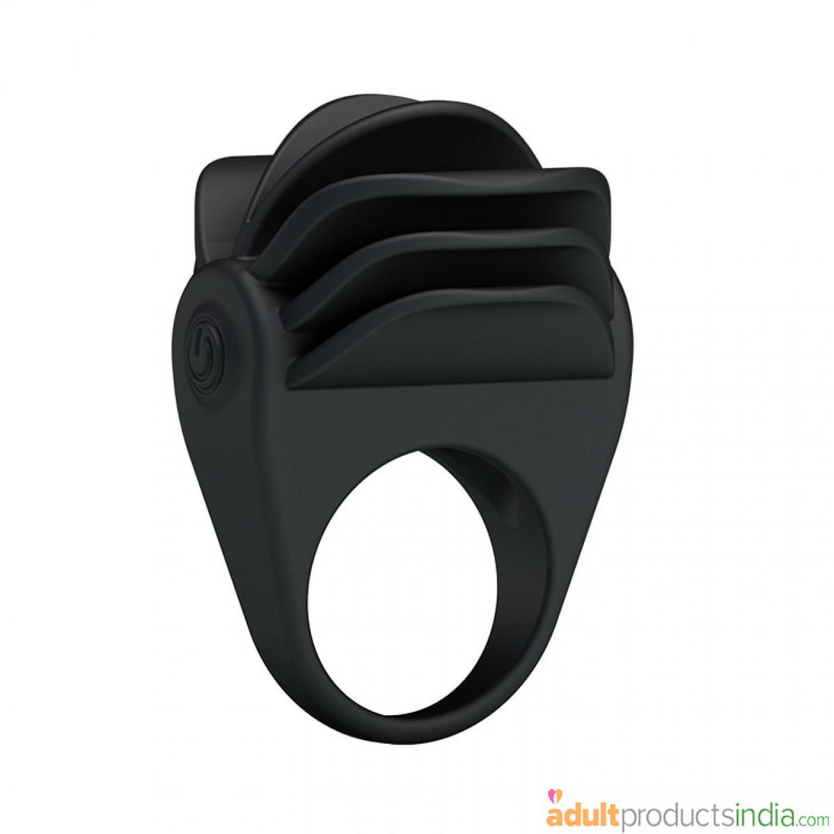 Waterproof Black Silicone Cock Ring