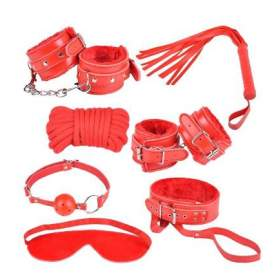 8-Pieces Bondage Kit Red