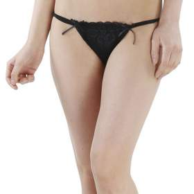 Ladies Thong Black