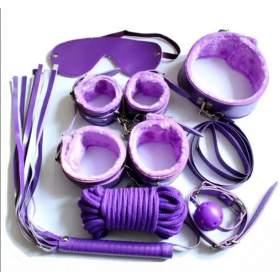 8-Pieces Bondage Kit Purple